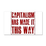 Capitalism Has Made It This W Car Magnet 20 x 12