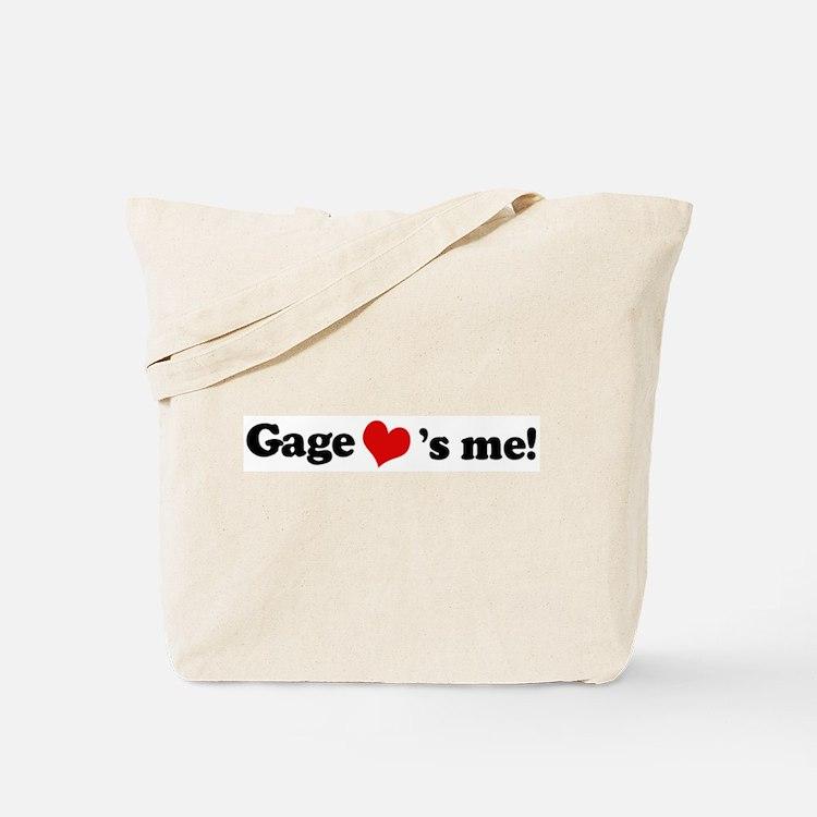 Gage loves me Tote Bag