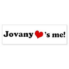 Jovany loves me Bumper Bumper Sticker