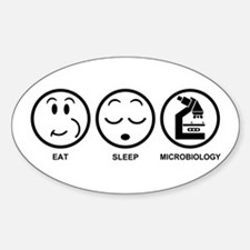 Eat Sleep Microbiology Decal