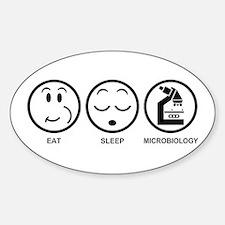 Eat Sleep Microbiology Decal