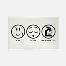Eat Sleep Microbiology Rectangle Magnet