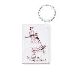 Jane Austen See Jane Run Keychains