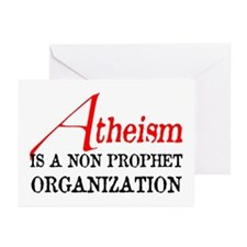 Atheism is a Non Prophet Greeting Cards (Pk of 20)