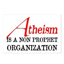Atheism is a Non Prophet Postcards (Package of 8)