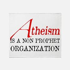 Atheism is a Non Prophet Throw Blanket
