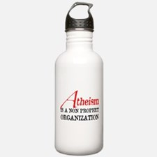 Atheism is a Non Prophet Water Bottle