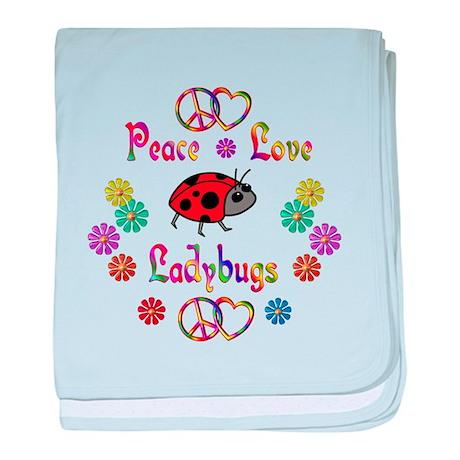 Peace Love Ladybugs baby blanket