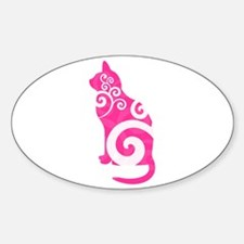Swirly Cat Pink Decal