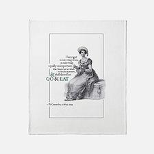 Jane Austen Throw Blanket