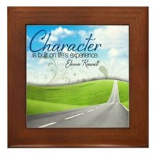 Character Quote on Framed Tile
