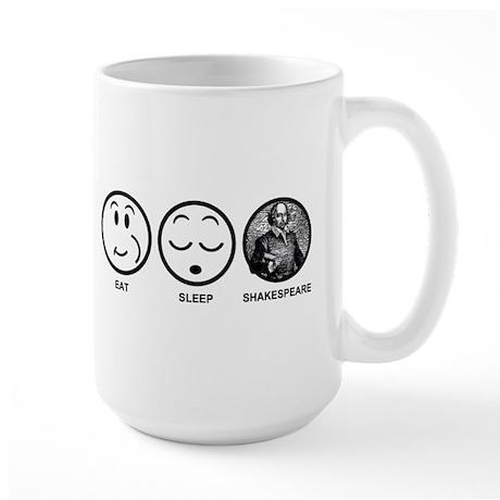 Eat Sleep Shakespeare Large Mug