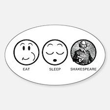 Eat Sleep Shakespeare Decal