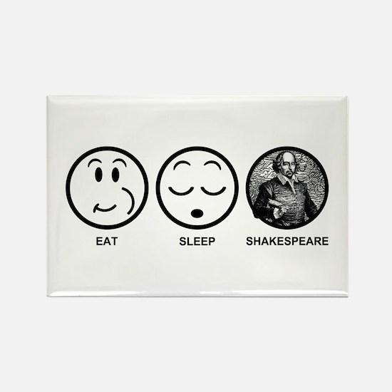 Eat Sleep Shakespeare Rectangle Magnet