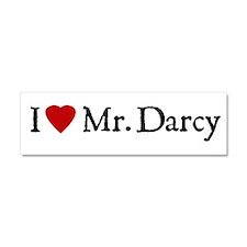 Jane Austen Heart Darcy Car Magnet 10 x 3