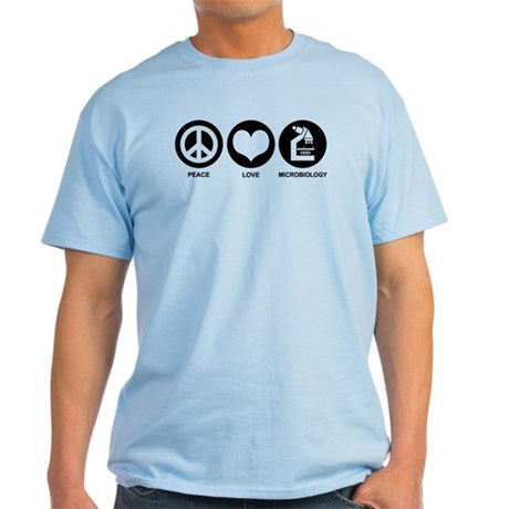Peace Love Microbiology Light T-Shirt