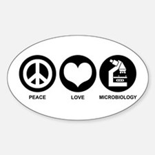 Peace Love Microbiology Decal