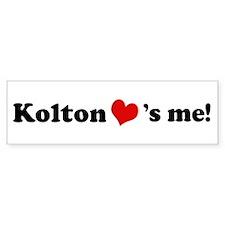 Kolton loves me Bumper Bumper Sticker