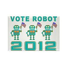 Vote Robot Rectangle Magnet