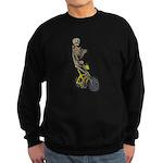 Skeleton on Bicycle Sweatshirt (dark)