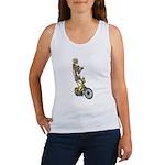 Skeleton on Bicycle Women's Tank Top