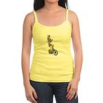 Skeleton on Bicycle Jr. Spaghetti Tank