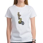 Skeleton on Bicycle Women's T-Shirt