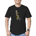 Skeleton on Bicycle Men's Fitted T-Shirt (dark)