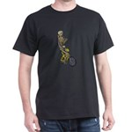 Skeleton on Bicycle Dark T-Shirt