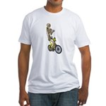 Skeleton on Bicycle Fitted T-Shirt