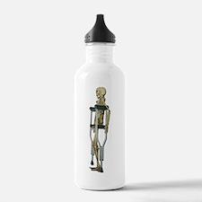 Skeleton on Crutches Water Bottle