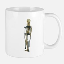 Skeleton on Crutches Mug