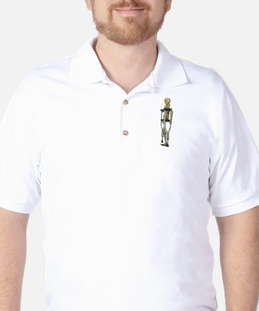 Skeleton on Crutches Golf Shirt