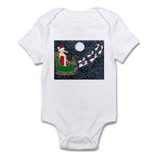 Santa Dachshund Infant Bodysuit