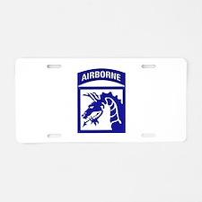 XVIII Airborne Corps Aluminum License Plate