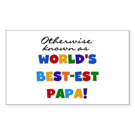 Otherwise Known Best Papa Sticker (Rectangle)