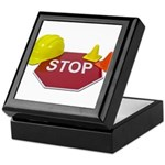 Stop Sign Hard Hat Safety Con Keepsake Box