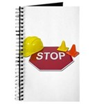 Stop Sign Hard Hat Safety Con Journal