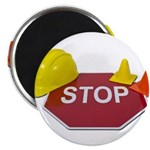 Stop Sign Hard Hat Safety Con Magnet