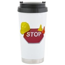 Stop Sign Hard Hat Safety Con Travel Mug