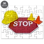 Stop Sign Hard Hat Safety Con Puzzle