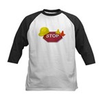 Stop Sign Hard Hat Safety Con Kids Baseball Jersey
