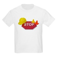 Stop Sign Hard Hat Safety Con T-Shirt