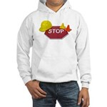 Stop Sign Hard Hat Safety Con Hooded Sweatshirt