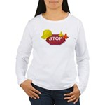 Stop Sign Hard Hat Safety Con Women's Long Sleeve