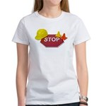 Stop Sign Hard Hat Safety Con Women's T-Shirt