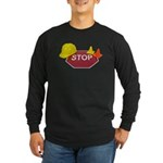 Stop Sign Hard Hat Safety Con Long Sleeve Dark T-S