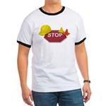 Stop Sign Hard Hat Safety Con Ringer T