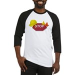 Stop Sign Hard Hat Safety Con Baseball Jersey