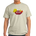 Stop Sign Hard Hat Safety Con Light T-Shirt